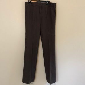 LK NEW J CREW chocolate brown linen pants size 8